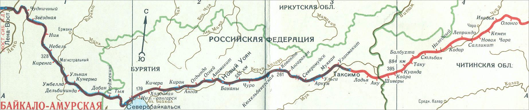 Карта-схема участка Лена -