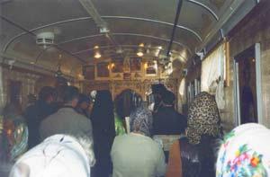 Всенощная в вагоне-храме, г. Тында