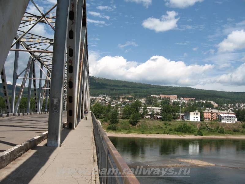 Город усть-кут - мост. фото кондраковa